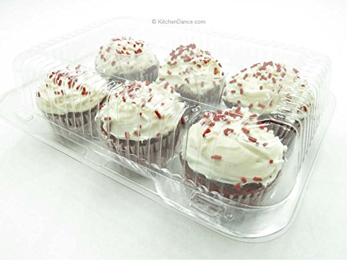 6 Counts Muffin or Cupcake Containers 5 OZ Each Cell Heavy Duty 300 CT by Inline