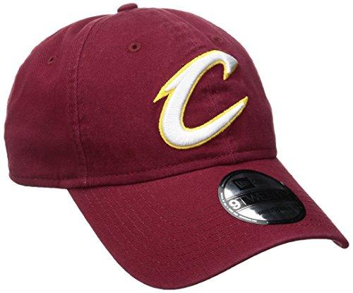 New Era NBA Cleveland Cavaliers Core Classic 9Twenty Adjustable Cap, Cardinal, One Size