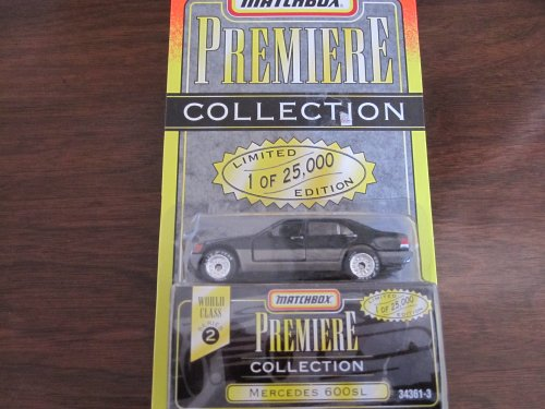 600 Series Mercedes - Matchbox Premiere Mercedes 600 Sl Series 2(34361-3) Color Black,gray by Tyco