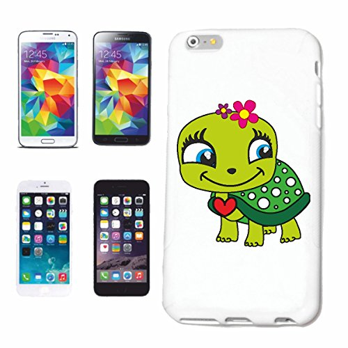 "cas de téléphone iPhone 6+ Plus ""TURTLE BONBON PEU AVEC COEUR TORTUES LANDSCHILDRÖTE TORTUES MARINES NINJA TORTUES D'EAU TORTUES TURTLE Nessaja"" Hard Case Cover Téléphone Covers Smart Cover pour Apple"
