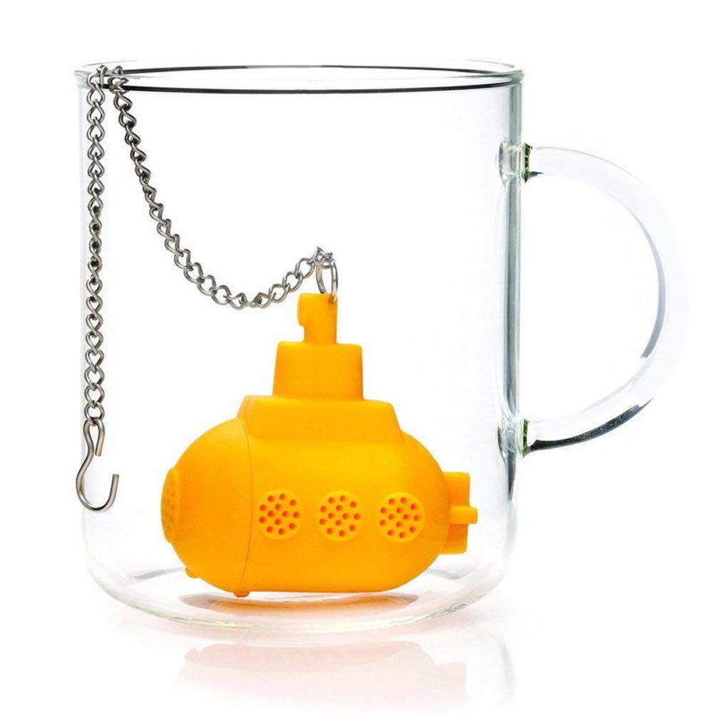LING'S SHOP New Submarine Silicone Tea Infuser Loose Tea Leaf Strainer Filter Teaspoon Diffuser