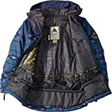 Burton Kids Boy's Phase Jacket (Little Kids/Big Kids) Mood Indigo Saddle Stripe/Mood Indigo X-Small