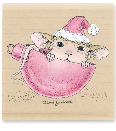 Stampabilities House Mouse Wood Mounted Rubber Stamp: Having A Ball Stampabilities House Mouse