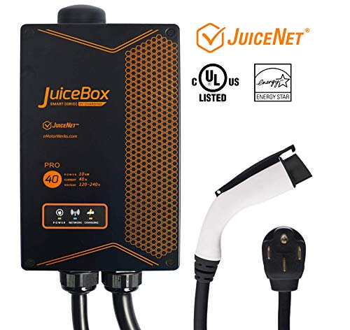 JuiceBox Pro 40 with JuiceNet: WiFi-equipped 40 Amp UL Listed Electric Vehicle Charging Station (EVSE) with 24-foot cable and NEMA 14-50 plug -