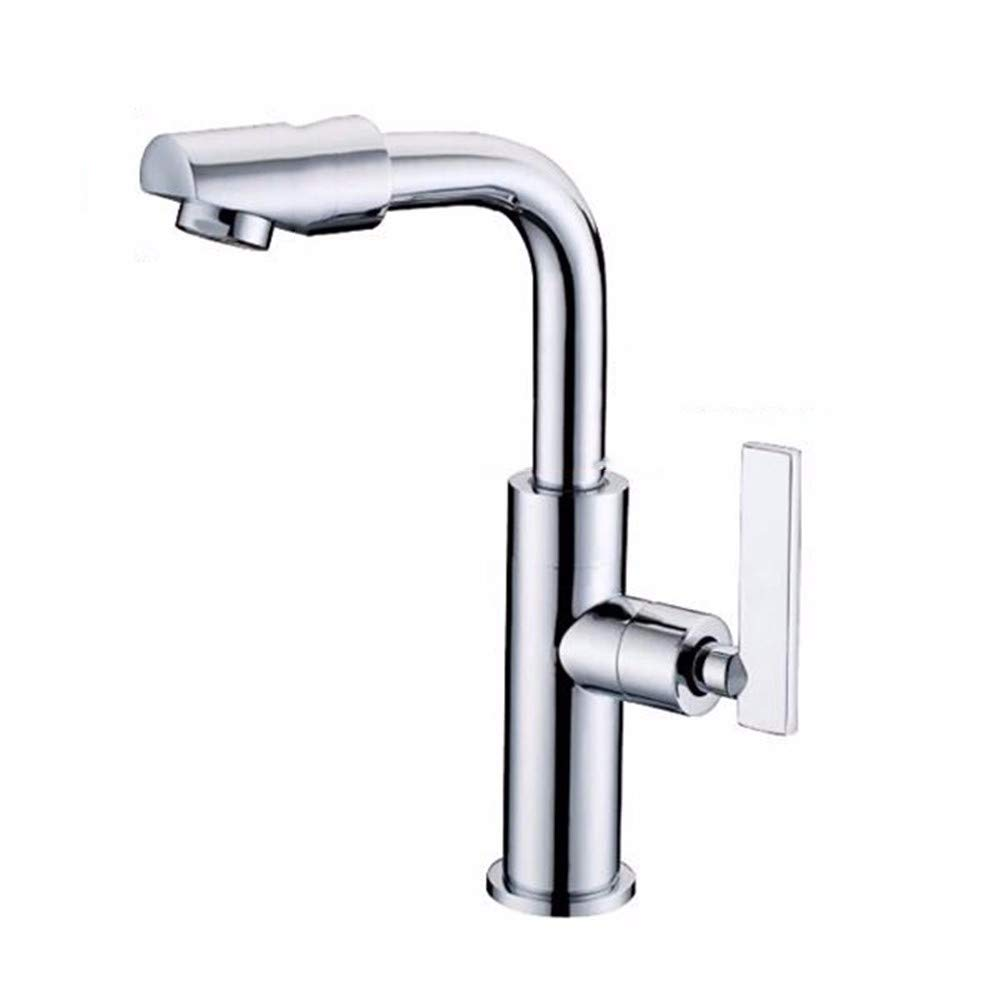 MulFaucet Faucet Water tap Taps Swivel Hoses Pure Copper Single Cold Basin Single Handle 360 ??Plated redation Single Cold Ceramic Basin