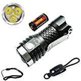 MecArmy PT16 2017 Upgrades Version 1000 Lumens USB Rechargeable Keychain Flashlight CREE XP-G2 LED Waterproof (IPX-8) with keychain USB Charging Cable, Metal clip,Lanyard ,16340 battery included.