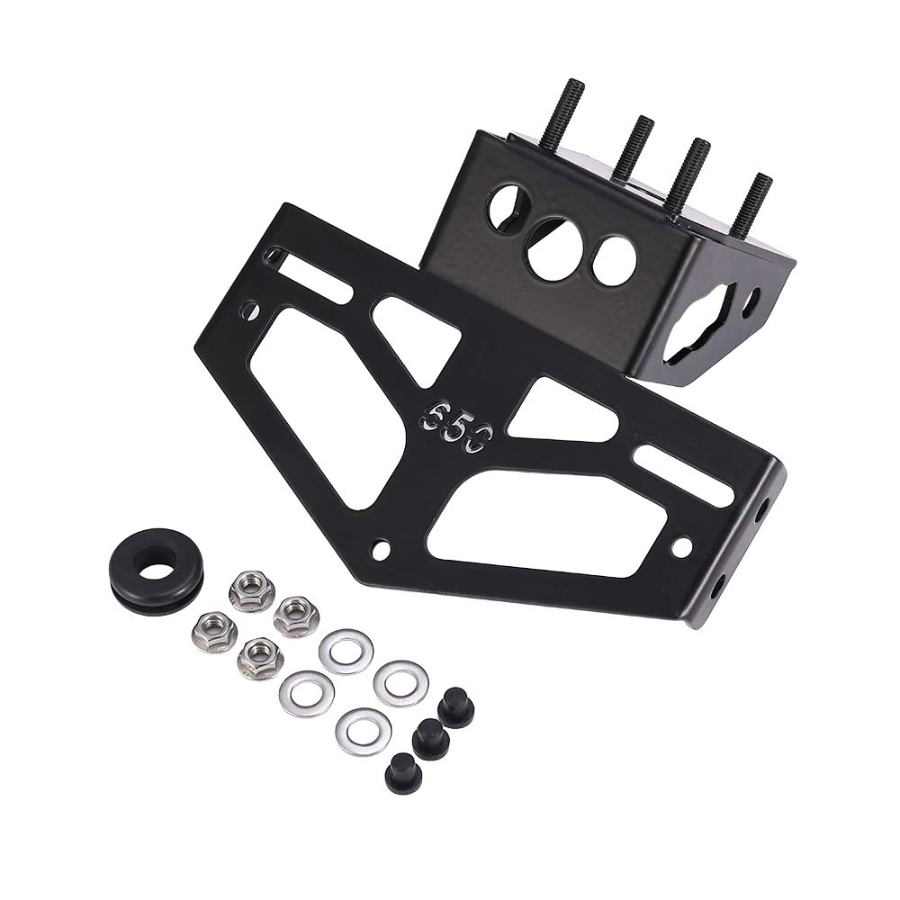 Motorcycle Fender Eliminator Kit Fit Kawasaki Ninja 650 License Plate Holder Ninja Z650 ZX650 2017 2018 2019 Tail Tidy Black Aluminium