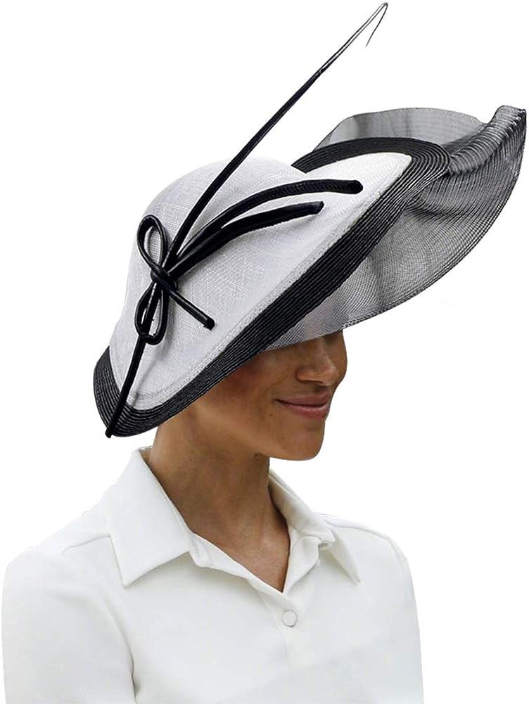 Koola's Sombreros de Mujer Fascinators Sinamay Sombreros para Mujeres Tea Party Kentucky Derby Headband Hat