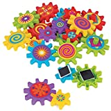 Spinning Gear Magnets (22 pcs / unit) Plastic. Size: 2 1/2'' - 4''