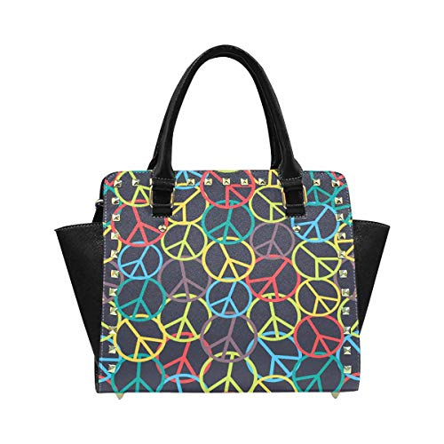 - InterestPrint Colorful Peace Sign Hobo Handbags Tote Purse for Women Fashion Ladies