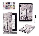 J Designer Smart Flip case cover for Amazon Kindle Voyage (Design-Eiffel Tower)