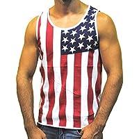 Patriótico Bandera Americana estrellas All Over Tank parte superior Camisa