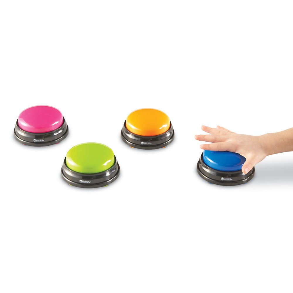 Set of 4 Inc LER3774 Learning Resources Answer Buzzers
