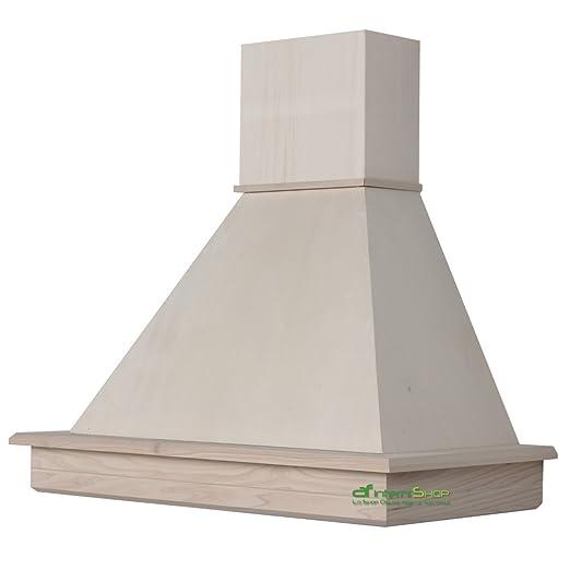 Cappa cucina rustica mod.Stock 90 parete - in legno grezzo da ...
