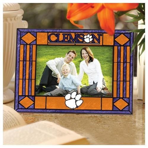 Clemson Art Glass Horizontal Frame (Tigers Ncaa Photo Frame)