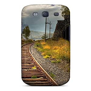 For BwMMc6690uMEXC Curving Railway Along A River Protective Case Cover Skin/galaxy S3 Case Cover