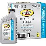 Pennzoil 550040834-6PK Platinum Euro SAE 5W-40 Full Synthetic Motor Oil - 1 Quart, (Case of 6)