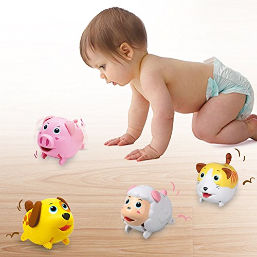 Toys For Boys Age 18 : Electronic mini animal toy play set dog n pig walking