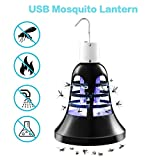 Siuyiu Mosquito Trap Electric Insect Killer Zapper Fly Catcher Indoor/Outdoor (2-in-1) LED Night Light and Bug Trap | USB-Powered Lantern | Patio, Backyard, Deck, Porch, Camping | Portable