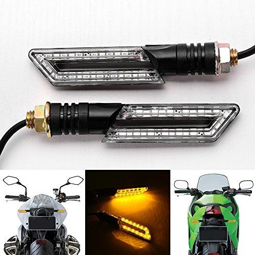 2x Black 3D Clear 30 Amber LED Turn Signal Blinker Light 10MM HDPE Stem For Honda CBR 600 1000 F4i RR F1 Yamaha FZR YZF R1 R6 R6S