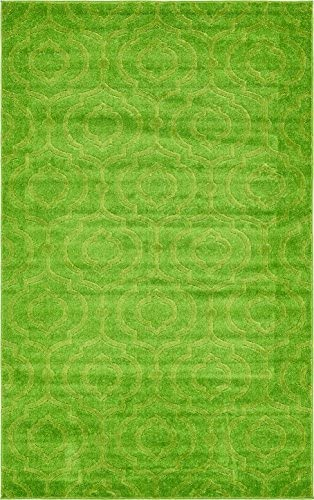 Unique Loom Trellis Frieze Collection Lattice Moroccan Geometric Modern Green Area Rug 5 0 x 8 0