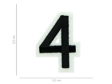 Alsino Toppa Ricamata | Patch | Numero 4 | 3 7 cm | da Cucire | Termoadesiva | Applicare con Ferro da Stiro | per Abbigliamento | Borse | Stoffe,