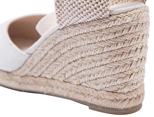 U Lite 3 Quot Cap Toe Platform Wedges Sandals For Women