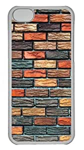 iPhone 5C Cases & Cover - Brick Wall Protective PC Hard Plastic Case for iPhone 5C - Transparent