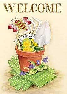 Toland Home Garden 108017 Garden Pot Standard Flag