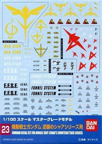 [해외]1100 건담 데 칼 MG 일반-역 습의 숯불 용 (23) / 1100 Gundam Decal MG Generic-For Counterattack Char (23)