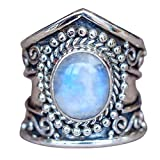 Fashion Ring, Kintaz Gemstone Marquise Moonstone Personalized Ring Ladies Jewelry For Engagement Ring Gift (10)