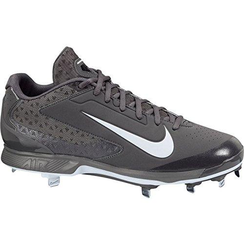 Nike Herren Huarache Pro Low Metal Baseballschuh Grau-weiß