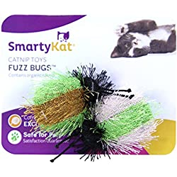 SmartyKat Fuzz Bugs Cat Toy Catnip Toy 2 Pack
