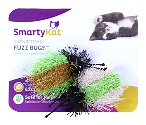 SmartyKat Fuzz Bugs Cat Toy Catnip Toy 2 Pack ()