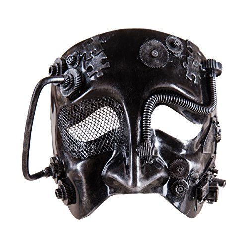 Plastic Cyborg Costume Mask, 7.5-in.]()