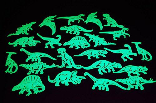 24 Piece Glow in the Dark Dinosaurs Dinosaur Room Decor