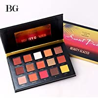 15 Farben Sunset Dust BEAUTY GLAZED Schimmer Glitzer Matt Mineral Pigment Lidschatten Palette Nude Beauty Makeup Wasserdicht Eyeshadow Palette