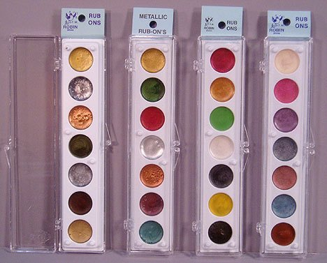 Rub Ons Applicator - Craf-t Products Complete Set of Rub On Metallic Embellishment Colors ~All 4 Sets!
