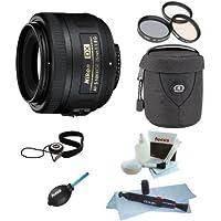 Nikon AF-S DX NIKKOR 35mm f/1.8G Lens Bundle with Tiffen 52mm Photo/Video Essentials Filter Kit + Medium Lens Case + Accessories
