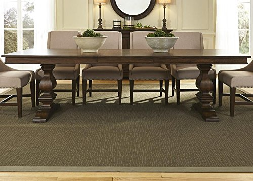 Armand Rectangular Trestle Dining Table in Antique Brownstone