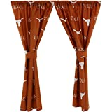 College Covers Texas Longhorns Printed Curtain Panels 42'' x 84''