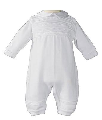 02099b524cc1 Amazon.com  Little Things Mean A Lot Boys Cotton Knit Christening ...