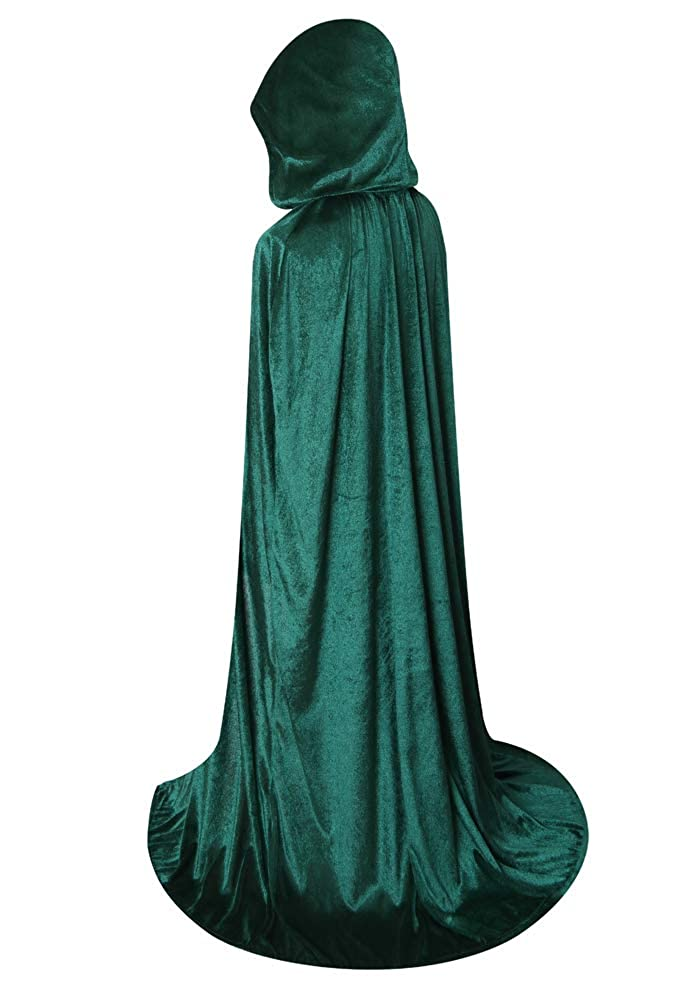 31.5, 47.3 /& 63.0 Deluxe Velvet Cloak//Cape with Lined Hood for Kids//Adults 47.3 /& 63.0