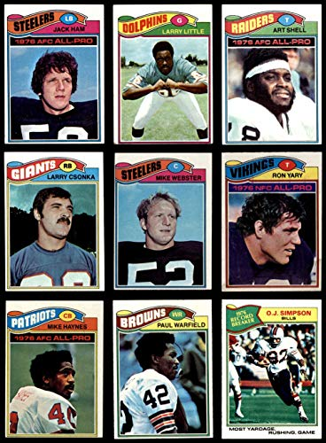 1977 topps football complete set - 7