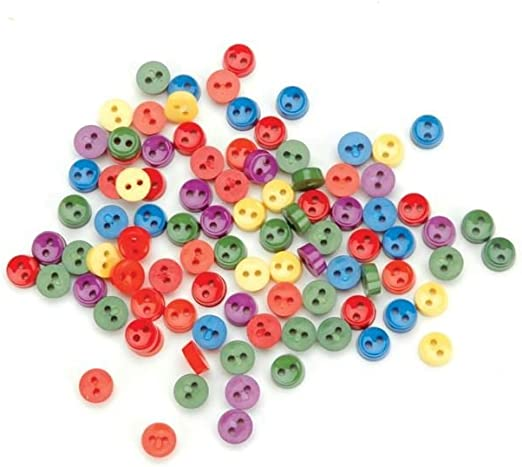 Jesse James Buttons ~ Dress It Up ~ Lime Green Round Sewing Buttons 4 Hole