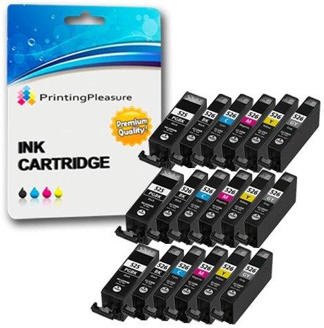 58 opinioni per 18 Compatibili PGI-525 CLI-526 Cartucce d'inchiostro per Canon Pixma MG5150