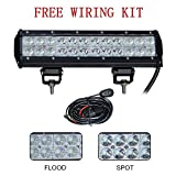 """Simplive® 12"""" 72W 7200LM CREE Spot Flood Combo Led Work Light Bar For Off-road SUV Boat 4x4 Jeep Lamp with Mounting Bracket"""