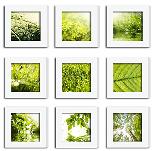 SmartWallStation 9Pcs 4x4 Tempered Glass Wood Frame for sale  Delivered anywhere in USA