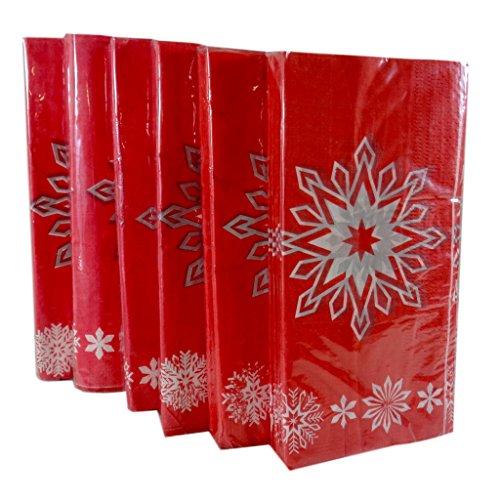 Bulk Buy: Christmas Snowflake Paper Guest Towels / Dinner Napkins, Pack of (Buy Paper Snowflake Decorations)