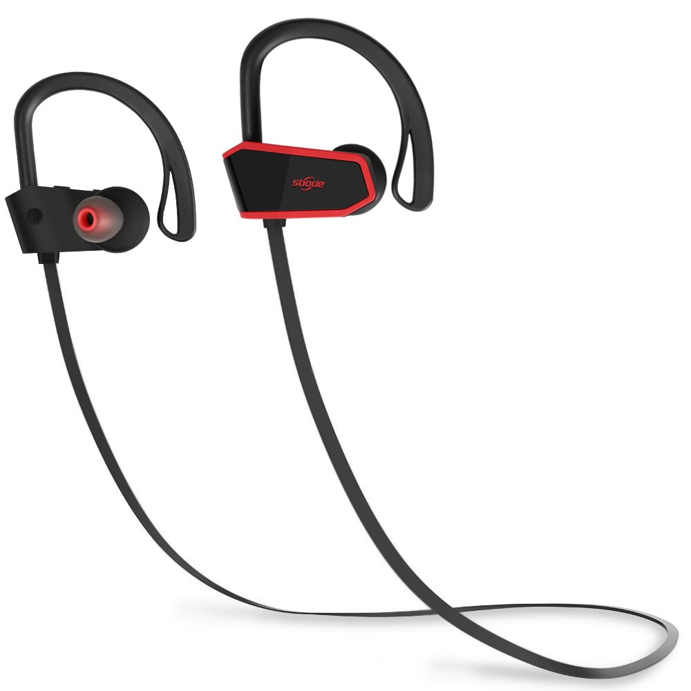 Bluetooth Headphones, Sbode Wireless Earbuds with Microphone, Richer Bass and Hi-Quality Sound in-Ear Earphones w Mic, Waterproof IPX7, 7-9 Hrs Playtime Noise Cancelling Comfy Secure Fit